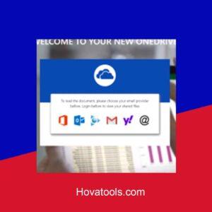 OneDrive EV Single Login Phishing page | Scam Page